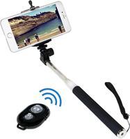 Selfie stick LogiLink BT0034 8.7 cm 1/4 inch Zwart/zilver incl. handlus