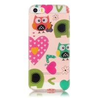 CasualCases Softcase hoes uilen love iPhone SE / 5(s)