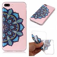 Qubits Softcase mandala bloem blauw hoes iPhone 7 Plus / 8 Plus
