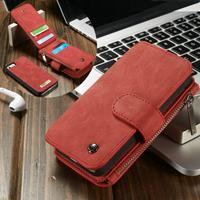 Caseme luxe portemonnee hoes iPhone SE / 5(s) rood