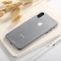 For iPhone X Ultra-thin Frosted PP Protective Back Cover Case (White)