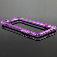 Apple Transparant Plastic + TPU Bumper Frame hoesje voor iPhone 6 & iPhone 6S(paars)