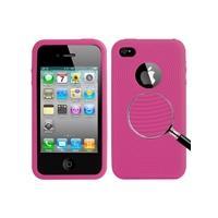 Apple Magenta behandeld siliconen hoesje voor iPhone 4 & 4S