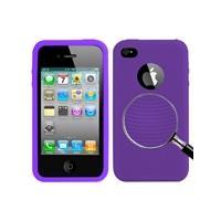 Apple paars behandeld siliconen hoesje voor iphone 4 & 4s