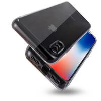 For iPhone X PC Transparent Protective Back Cover Case (Transparent)