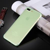 For iPhone 8 Plus & 7 Plus Frosted Transparent Protective Back Cover Case(Green)