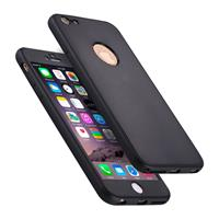 For iPhone 6 Plus & 6s Plus Stylish Lightweight 360 Degree Shockproof Detachable TPU + PC Combination Protective Case (Black)