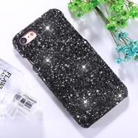 For iPhone 8 & 7 Colorful Sequins Paste Protective Back Cover Case (Black)