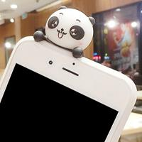 For iPhone 6 Plus & 6s Plus Three Pandas Pattern 3D Lovely Papa Panda Dropproof Protective Back Cover Case