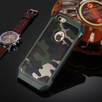 For iPhone 6 Plus & 6s Plus Camouflage Patterns Shock-resistant Tough Armor PC + Silicone Combination Case(Green)