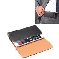 Apple Crazy Horse structuur Vertical Flip lederen hoesje / Waist Bag met Back Splint voor iPhone 6 & iPhone 6S