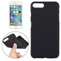 Apple Voor iPhone 7 Plus effen Kleur TPU beschermings backcover hoesje(zwart)
