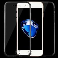 Apple Voor iPhone 8 & 7 0 75 mm dubbelzijdig Ultra-thin transparante TPU beschermende Case (zwart)