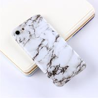 For iPhone 6 Plus & 6s Plus Black White Marble Pattern TPU Protective Back Cover Case
