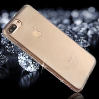 For iPhone 8 Plus & 7 Plus Diamond Border TPU Transparent Protective Back Cover Case (Black)