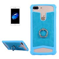 5.2-5.5 inch Universal Crazy Horse Texture PU Leather + Silicone Protective Case with Holder for Sony Huawei Meizu Lenovo ASUS Cubot Oneplus Dreami Oukitel Xiaomi Ulefone Letv DOOGEE Umi ZTE Vernee El