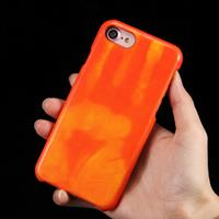 For iPhone 8 & 7 Heat Sensitive Phone Case Silicone Protective Case Back Cover(Red)