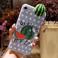 For iPhone 6 Plus & 6s Plus Fashion Papa Fruit Watermelon Pattern Protective Back Cover Case