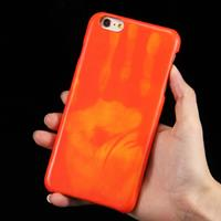 For iPhone 6 Plus & 6s Plus Heat Sensitive Phone Case Silicone Protective Case Back Cover(Red)