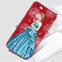 For iPhone 8 & 7 Painted Diamante Embossment Full Coverage Protective Back Cover Case