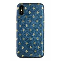 Lunso ultra dunne backcover hoes - iPhone X / XS - star blauw