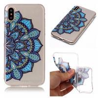 Qubits Softcase mandala bloem blauw hoes iPhone X / XS