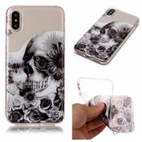 CasualCases Softcase schedel hoes iPhone X / XS