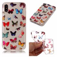 CasualCases Softcase vlinders hoes iPhone X / XS