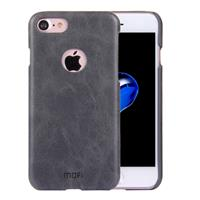 MOFI for iPhone 8 & 7 Crazy Horse Texture Leather Surface PC Protective Case Back Cover(Black)