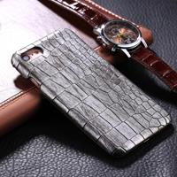 For iPhone 6 Plus & 6s Plus Crocodile Texture Paste Protective Back Cover Case (Silver)