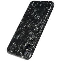 Benks for iPhone X Soft TPU Dropproof IML Diamond Pattern Full Coverage Back Case Cover (Black)