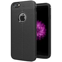 For iPhone 6 Plus & 6s Plus Litchi Texture TPU Protective Back Cover Case (Black)