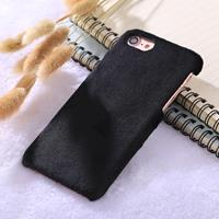For iPhone 8 & 7 Plush Protective Back Cover Case (Black)