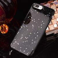 For iPhone 6 Plus & 6s Plus Epoxy Dripping Black Starry Soft TPU Protective Case Back Cover
