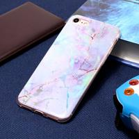 For iPhone 8 & 7 Pink Gold Marble Pattern Soft Protective Back Cover Case