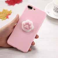 For iPhone 8 Plus & 7 Plus 3D Paw Print Pattern Squeeze Relief Squishy Dropproof Protective Back Cover Case
