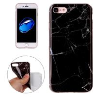 For iPhone 8 & 7 Black Marbling Pattern Soft TPU Protective Back Cover Case