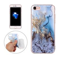 For iPhone7 Blue Marble Pattern Soft TPU Protective Case