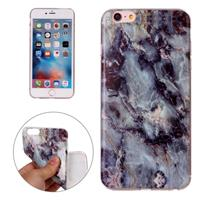 For iPhone 6 Plus & 6s Plus Brown Marbling Pattern Soft TPU Protective Back Cover Case