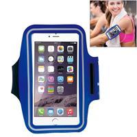 HAWEEL Sport Armband Case with Earphone Hole & Key Pocket for iPhone 6 Plus Samsung Galaxy S6 / S5(Dark Blue)