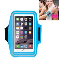 HAWEEL Sport Armband Case with Earphone Hole & Key Pocket for iPhone 6 Plus Samsung Galaxy S6 / S5(Baby Blue)