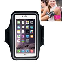 HAWEEL Sport Armband Case with Earphone Hole & Key Pocket for iPhone 6 Plus Samsung Galaxy S6 / S5(Black)