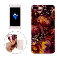 For iPhone7 Plus Purple Yellow Marble Pattern Soft TPU Protective Case