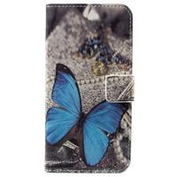 Huawei Honor 6A Style Series Wallet Case - Blauw Vlinder