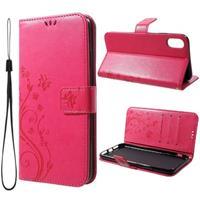 Butterfly Series iPhone XR Wallet Hoesje - Hot Pink