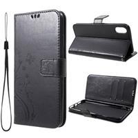 Butterfly Series iPhone XR Wallet Hoesje - Zwart