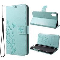 Butterfly Series iPhone XR Wallet Hoesje - Cyan