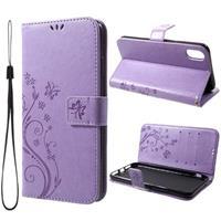 Butterfly Series iPhone XR Wallet Hoesje - Lilla