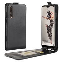 Huawei P20 Pro Flip Hoesje met Creditcardvak - Zwart