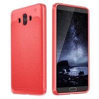 Huawei Mate 10 Ivso Gentry Series TPU Case met Textuur - Rood